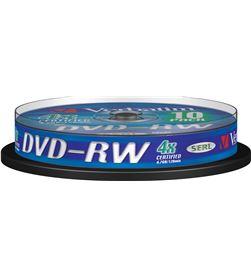 Verbatim B-DVD-RW 4.7GB 10U dvd-rw serl 4x 4.7gb tarrina 10 unidades 43552 - VERB-DVD-RW 4.7GB 10U