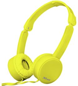 River 23106 auriculares trust nano yellow - ds 27mm - micrófono omnidireccional - TRU-AUR 23106