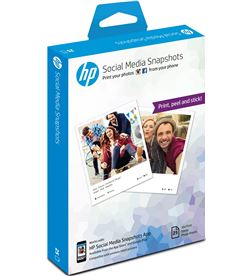 25 hojas de 10x13 cm de papel fotográfico adhesivo extraible para Hp soci W2G60A - W2G60A