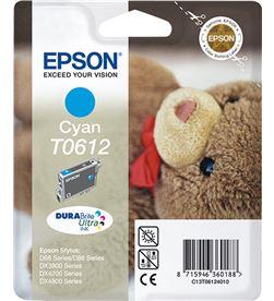 Cartucho tinta cian pigmentado Epson 250 páginas t0612 - osito de peluch C13T06124010 - EPS-C13T06124010