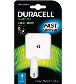 Duracell DRACUSB2W-EU cargador de pared - 1xusb - 5v - 2.4a - DRC-CARGA DRACUSB2W-EU