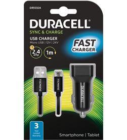 Duracell DR5032A cargador de coche - 5v / 2.4a - cable micro usb - DRC-CARGA COCHE DR5032A
