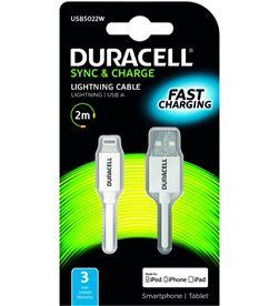 Duracell USB5022W cable usb-lightning - para carga y sincronización - 2 met - DRC-CABLE USB5022W