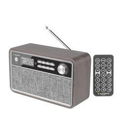 Radio retro Sunstech RPBT500WD madera - 2*3w rms - fm - bt 4.2 - reloj y al - 8429015019142