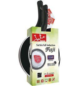 Jata -SARTEN SF1 2024 pack 2 sartenes sf1 fuji - ø20/24cm - fondo difusor - aluminio forj set sf1 2024 - 8436017658712