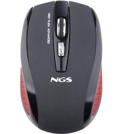 Ratón mini óptico inalámbrico Ngs red flea advanced - 800/1600 dpi - 2.4ghz FLEAADVANCEDRED - 8436001304588