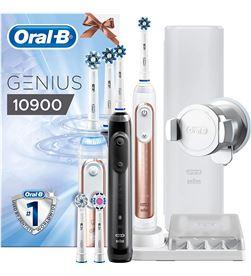 Pack 2 cepillos dentales Braun oral-b 10900 - black y rose gold 235484 - 4210201235484