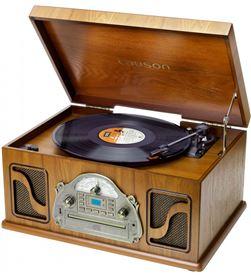 Lauson IVX22 tocadiscos clásico de madera cd radio grabación digital mp3 bl - 8422926063716